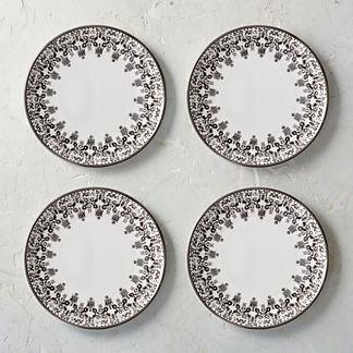 Tofino Melamine Dinner Plates, Set of Four