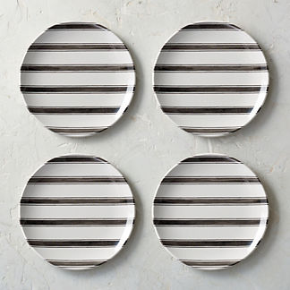 Tofino Melamine Salad Plates, Set of Four