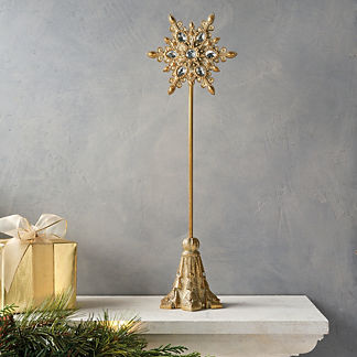 Jeweled Snowflake Tabletop Decoration