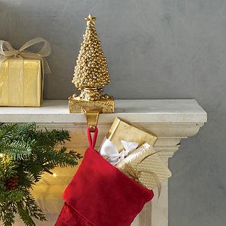 Gold Tree Stocking Holder