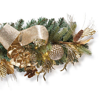 Precious Metals Indoor Cordless 6' Garland