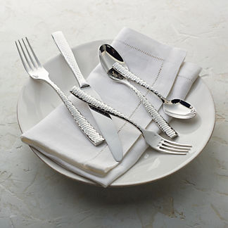 Lucca Five-piece Faceted Flatware