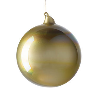 Berry and Bright Iridescent Glass Ball Ornament