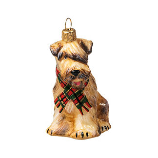 Soft-coated Wheaten Terrier with Scarf Collectible Dog Ornament