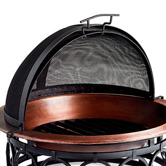 Layton Copper Firepit Sparkguard