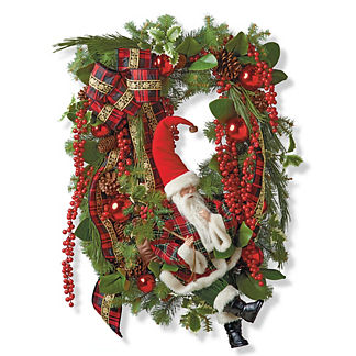 Santa in Wreath