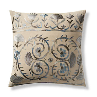 Jillian Embroidered Decorative Pillow Cover