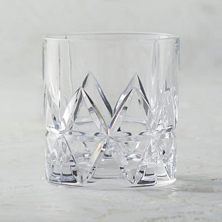 Peak Double Old-fashioned Glasses by Orrefors, Set of Four