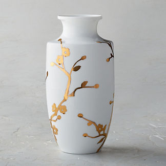 Gilded Blossom Small Shaped Vase
