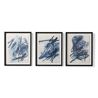 Mood Indigo Giclee Prints Triptych