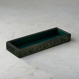 Arturo Forest Leather Tray