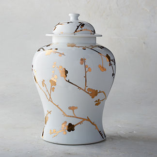 Gilded Blossoms Ginger Jar