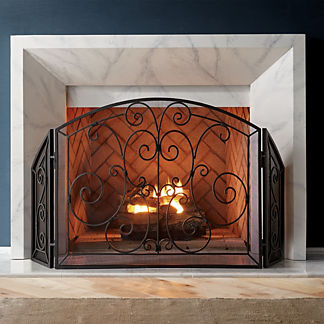 Simone Scroll Fireplace Screen