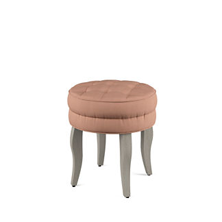 Adley Vanity Stool with Wood Legs