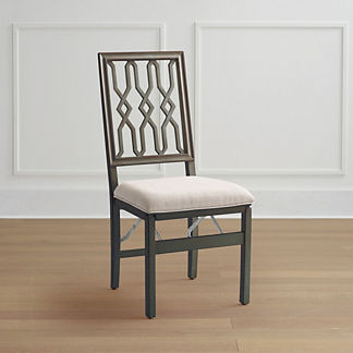 Lattice Folding Chairs, Set of Two