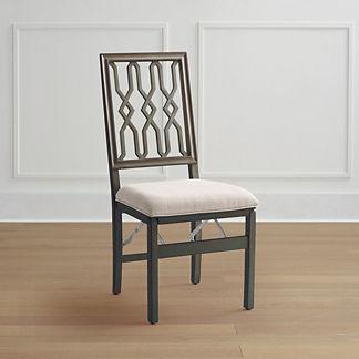 Lattice Folding Chairs, Set of Two