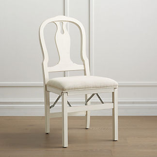 Modern Chippendale Folding Chairs, Set of Two