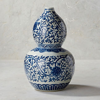 Blue Ming Double Gourd Vase