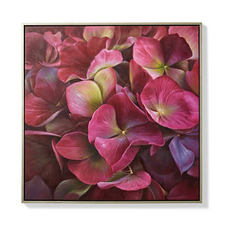 Burgundy Hydrangea Oil on Canvas