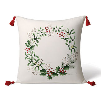 Winter Welcome Handpainted Indoor/Outdoor Pillow