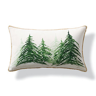 Winterland Handpainted Indoor/Outdoor Lumbar Pillow
