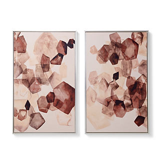 Blushing Gems Giclee Diptych
