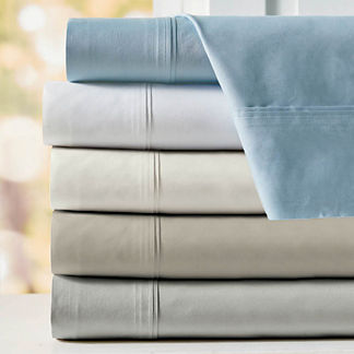 Resort Pintuck Egyptian Cotton Percale Sheet Set