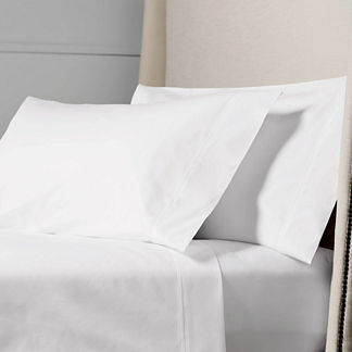 Resort Pintuck Egyptian Cotton Percale Pillowcases, Set of Two