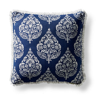 Aldra Paisley Indigo Square Pillow