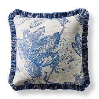 Amrita Blossom Square Outdoor Pillow in Cobalt