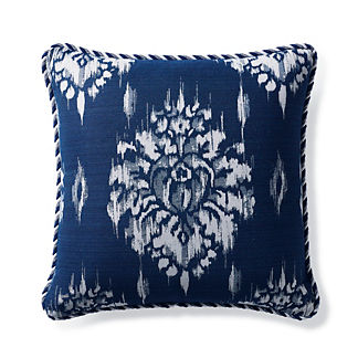 Hillcrest Ikat Indigo Outdoor Pillow