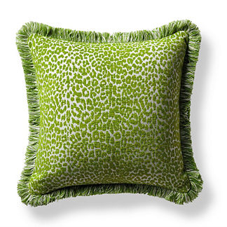 Leopard Luxe Gingko Outdoor Pillow