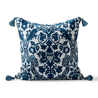 Medina Carpet Square Outdoor Pillow in Indigo