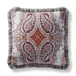 Tavaux Paisley Square Outdoor Pillow in Berry