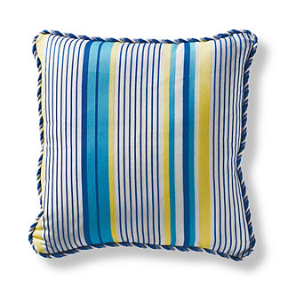 Westlake Stripe Cobalt Square Pillow