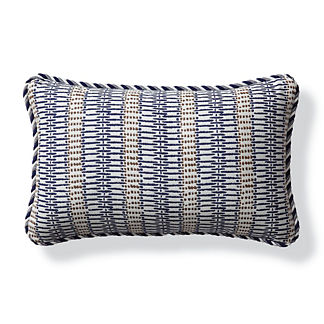 Sayulita Indigo Outdoor Lumbar Pillow