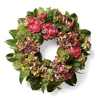 Hydrangea Peony Wreath