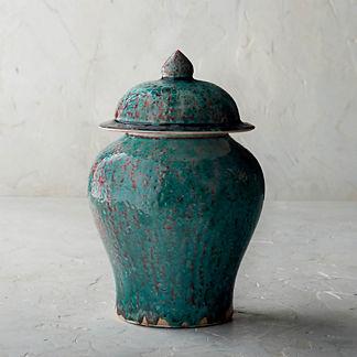 Vert De Chine Ceramic Lidded Jar