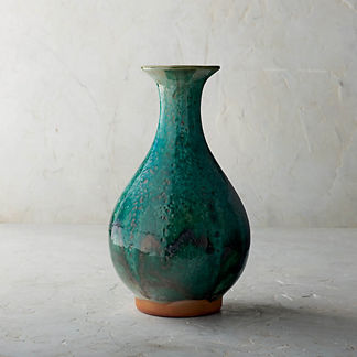 Vert de Chine Ceramic Shaped Vase