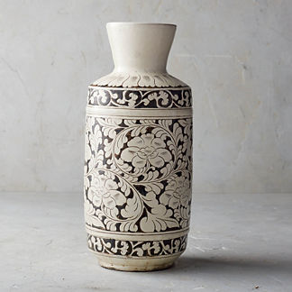 Song Noir Chinoiserie Tall Vase