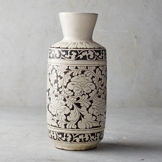 Song Noir Chinoiserie Tall Vase