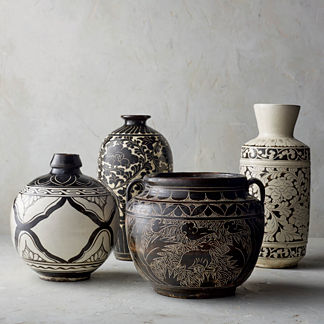 Song Noir Chinoiserie Open Pot