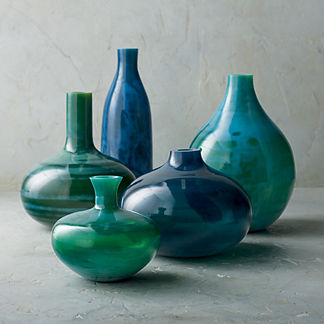 Marella Glass Vases, Set of Five