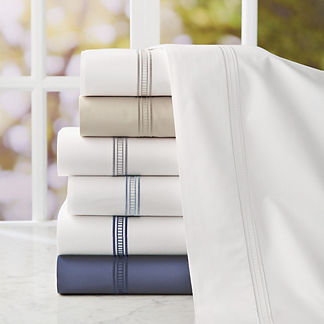Resort Ladder Stitch Cotton Sateen Sheet Set
