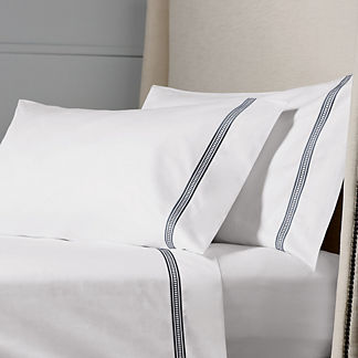 Resort Ladder Stitch Cotton Sateen Pillowcases, Set of Two