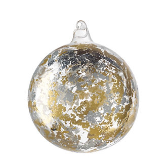 Precious Metals Gold/Silver Leaf Ornament
