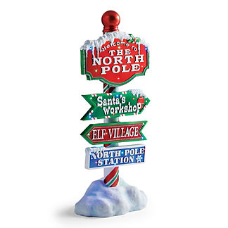 LED Fiber Optic North Pole Directional Sign