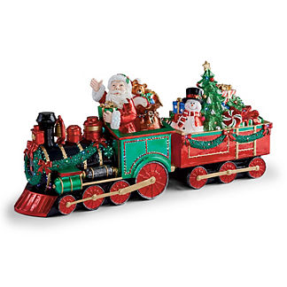 LED Fiber Optic Santa with Train
