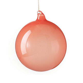 Berry and Bright Peach Glass Ball Ornament
