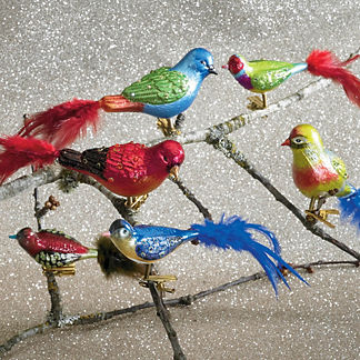 Glass Bird Ornament Collection, Set of 12